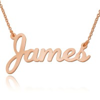 Rose Gold Script Style Name Necklace