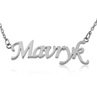 Sterling Silver Monotype Script Name Necklace