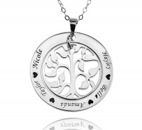 Family Tree Necklace in Sterling Silver