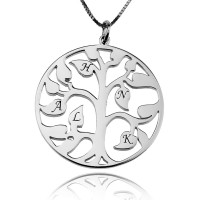 Tree Of Life Charm Necklace in Sterling Silver