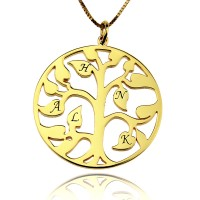 18k Gold Tree Of Life Charm Necklace