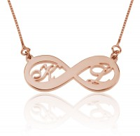 Rose Gold Customized Infinity Necklace With Initials