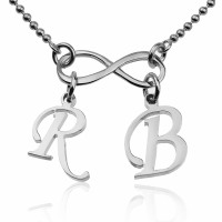 Personalized Infinity Necklace With  Initials