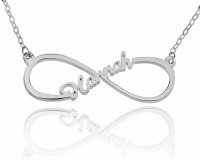 Sterling Silver Infinity Necklace With One Name