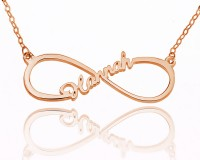 Rose Gold Personalized Infinity Name Necklace