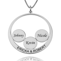 Personalized Family Name Pendant  For Mothers