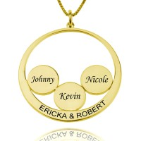 Gold Plating Personalized Family Name Necklace For Mothers