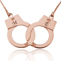 Rose Gold Customized Handcuff Necklace