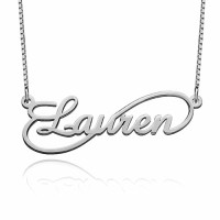 Personalized Single Infinity Necklace in Sterling Silver