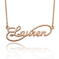 Personalized Single Infinity Necklace in Rose Gold Plated