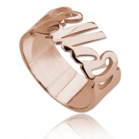 Personlized Name Ring in Rose Gold Plated