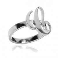 Personalized Sterling Silver Initial Letter  Ring