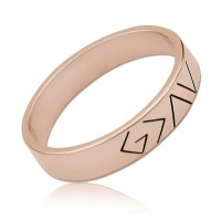 God Is Greater Than The Highs And Lows Ring in Rose Gold Plated
